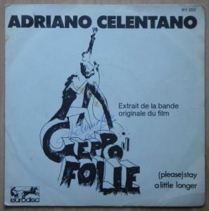 ADRIANO CELENTANO - Geppo / Stay a little longer - 7inch (SP)