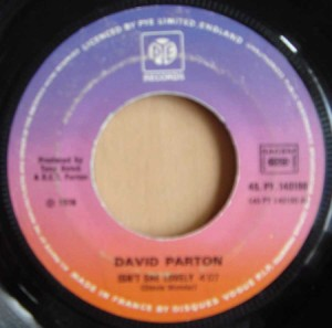 DAVID PARTON - Love and peace of mind / Isn't she lovely - 7inch (SP)