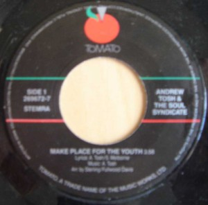 ANDREW TOSH & THE SOUL SYNDICATE - Make place for the youth / Stop what ya doin' - 7inch (SP)