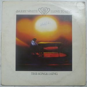 BARRY WHITE - I love to sing - LP