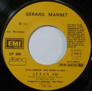 GERARD MANSET - Jesus / Amis - 7inch (SP)