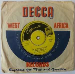 HUBERT OGUNDE AND HIS STUDIO BAND - Awo mimo / Awolowo ku abo - 7inch (SP)