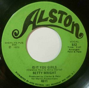 BETTY WRIGHT - Is it you girls / Cryin in my sleep - 7inch (SP)