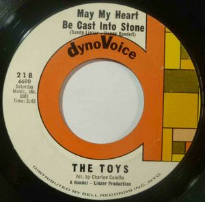 THE TOYS - May my heart be cast into stone / On backstreet - 7inch (SP)