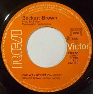 BECKETT BROWN - One way street - 7inch (SP)