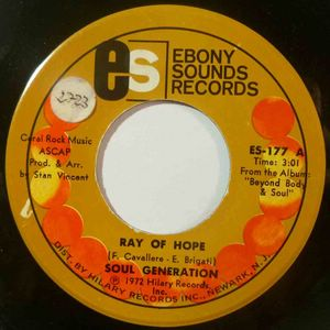 SOUL GENERATION - Ray of hope / Young bird - 7inch (SP)
