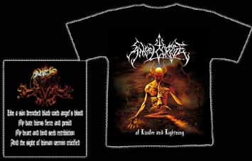 ANGELCORPSE - Of Lucifer And Lightning. XL Size - T-shirt