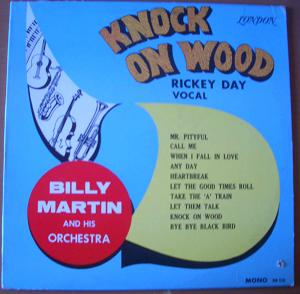 RICKY DAY WITH BILLY MARTIN AND HIS ORCHESTRA - Knock on wood - LP