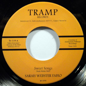 SARAH WEBSTER FABIO - Sweet songs - 7inch (SP)