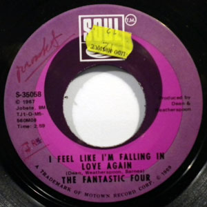 THE FANTASTIC FOUR - I feel like I'm falling in love again - 7inch (SP)