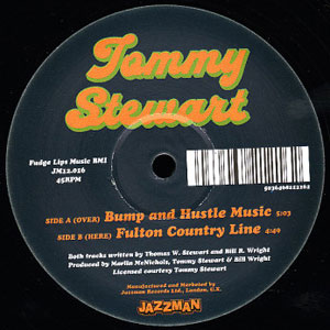 TOMMY STEWART - Bump & Hustle Music / Fulton Country Line - 12 inch 45 rpm