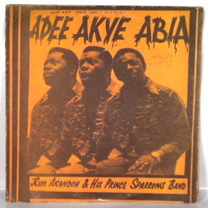RIM AKANDO AND HIS PRINCE SPARROWS BAND - Adee akye abia - LP