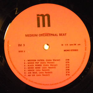 EDDIE WARNER - Medium Orchestral Beat - LP
