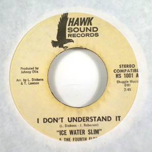 ICE WATER SLIM - I don't understand - 7inch (SP)