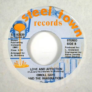 ERROLL GAYE AND THE IMAGINATIONS - Love and affection - 45T (SP 2 titres)