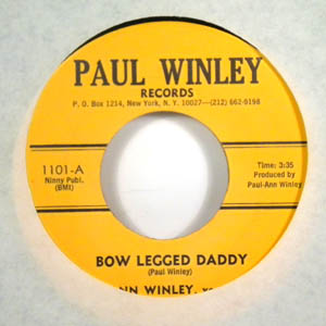 ANN WINLEY - Bow legged daddy - 45T (SP 2 titres)