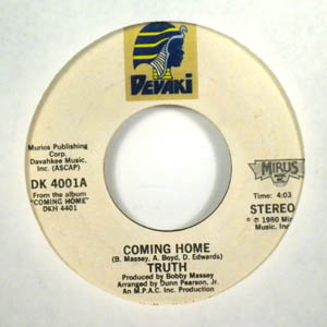TRUTH - Coming home - 45T (SP 2 titres)