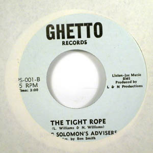 KING SOLOMON'S ADVISERS - The tight rope - 45T (SP 2 titres)