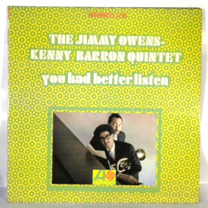 THE JIMMY OWENS - KENNY BARRON - You Had Better Listen - LP