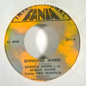 ROBERTO ROENA Y SU APOLLO SOUND - Spinning wheel- El escapulario - 7inch (SP)
