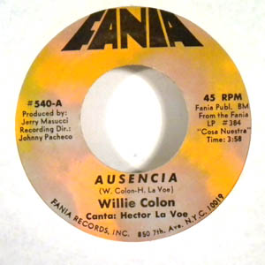 WILLIE COLON - Te conozco - 7inch (SP)