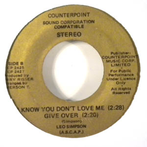 LEO SIMPSON - I know you dont love me EP - 7inch (SP)