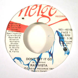 RAY VISTA - Don't let it go - 45T (SP 2 titres)