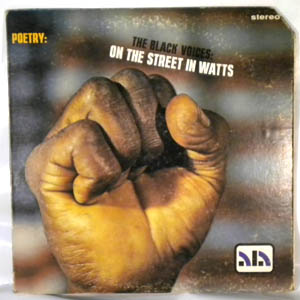 THE BLACK VOICES - On The Streets In Watts - LP