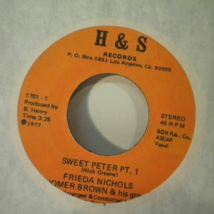 FRIEDA NICHOLS - Sweet Peter - 7inch (SP)