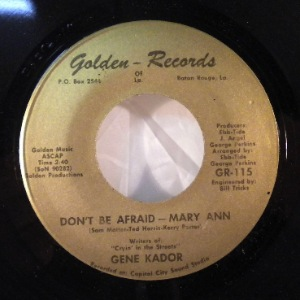 GENE KADOR - Don't be afraid - 45T (SP 2 titres)