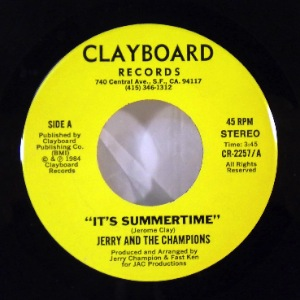JERRY AND THE CHAMPIONS - It's summertime - 7inch (SP)