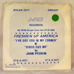 JOHN PEGRAM - Disco-tize me - 7inch (SP)