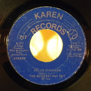 THE QUICKEST WAY OUT - Tick tock baby / Hello stranger - 7inch (SP)
