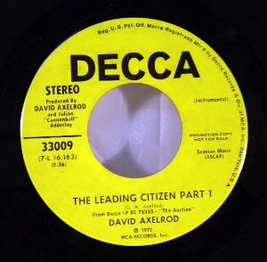 DAVID AXELROD - The leading citizen - 7inch (SP)