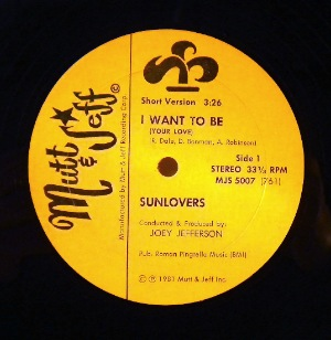 SUNLOVERS - I want to be - 12 inch 45 rpm
