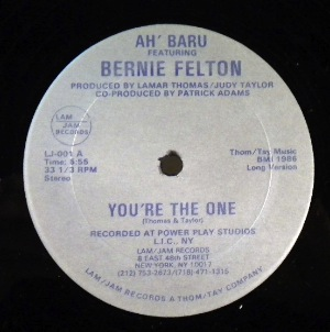 AH' BARU FEATURING BERNIE FELTON - You're the one - Maxi 45T