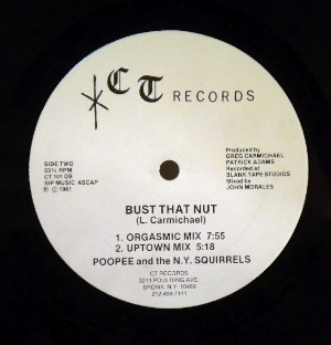 POOPEE AND THE N.Y. SQUIRRELS - Bust that nut - 12 inch 45 rpm