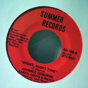 JOHNNIE OSBORNE - Right, right time - 7inch (SP)