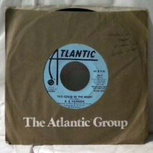 R.B. HUDMON - This could be the night - 7inch (SP)