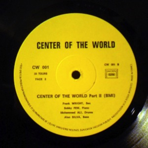 FRANK WRIGHT QUARTET - Center Of The World Live - LP