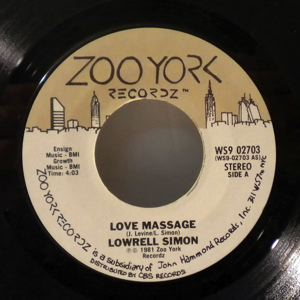 LOWRELL SIMON - Love massage - 7inch (SP)