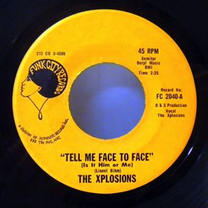 THE XPLOSIONS - Wait  aminute / Tell me face to face - 7inch (SP)