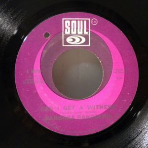 BARBARA RANDOLPH - Can I get  a witness - 45T (SP 2 titres)