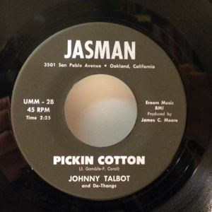 JOHNNY TALBOT - Pickin Cotton - 7inch (SP)