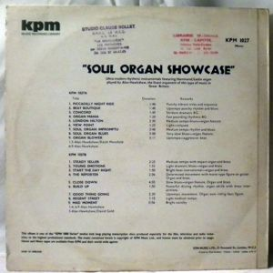 ALAN HAWKSHAW / KEITH MANSFIELD - Soul organ showcase - 33T