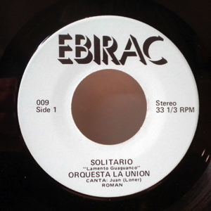 ORQUESTA LA UNION - Solitario - 45T (SP 2 titres)