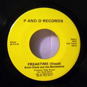 SCOTT DAVIS - Freaktime - 45T (SP 2 titres)