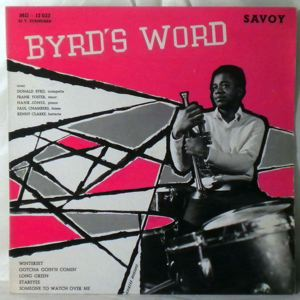 DONALD BYRD QUINTET - Byrd's Word - LP