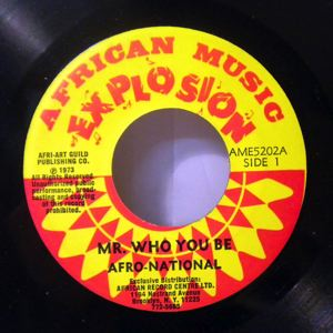 AFRO NATIONAL - Mr who you be? / Dem kick - 45T (SP 2 titres)
