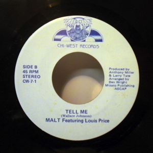 MALT FEATURING LOUIS PRICE - Tell me / Give love a  second chance - 45T (SP 2 titres)